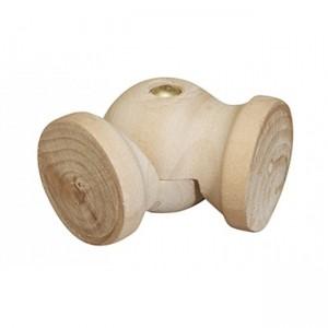 """LELB Flexible Wood Elbow for 2"""" Curtain Rod~Each"""