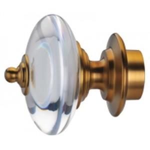 "Regal Acrylic/Bronze Finials for 1 3/8"" Curtain Rod~Pair"
