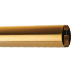 "Bronze 1 3/8"" Diameter Channel Curtain Rod"