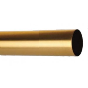 "Bronze 1 3/8"" Diameter Metal Curtain Rod"