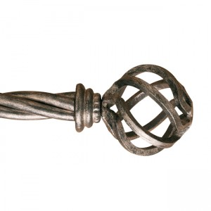 "Globe Finial with Base for 1 3/4"" Curtain Rod~Each"