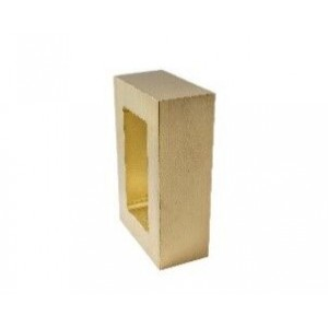 "Brushed Brass Rectangle End Cap for 2"" x 1"" Curtain Rods"