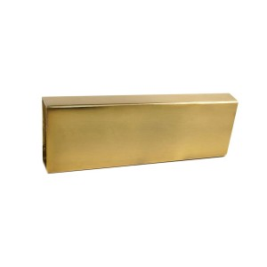 "Rectangular Brushed Brass Curtain Rod 2"" x 1"""