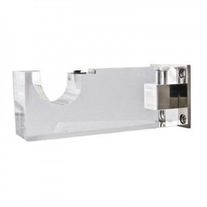 "Lucite Acrylic Bracket for 1 1/8"" Rod Diameter"