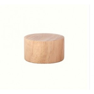"Wood Disk End Cap for 1 1/8"" Rod"