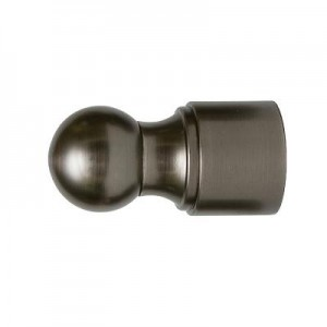 "Ball Metal Finial for 1 3/8"" Curtain Rod~Pair"