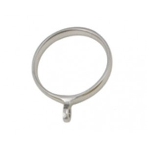 "Curtain Ring with Eyelet for 1"" Curtain Rod ~ Each"