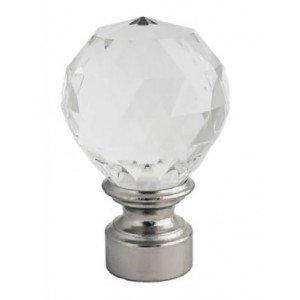 "Aria Finial for 1 1/8"" Rod Diameter ~ Each"