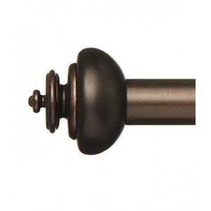 "Nora Curtain Rod Finial for 1"" Metal Drapery Rod ~ Pair"