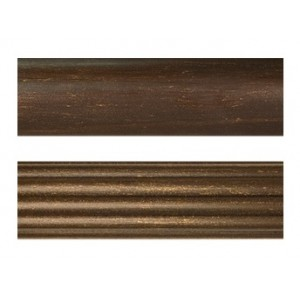 "12' Smooth or Fluted Curtain Rod~2"" Diameter"