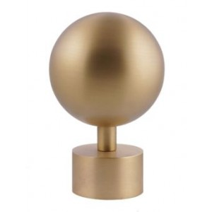 "Orb Finial for 1 1/2"" Curtain Rod~Each"