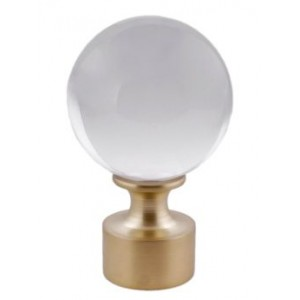 "Orion Acrylic Finial for 1 1/2"" Curtain Rod"