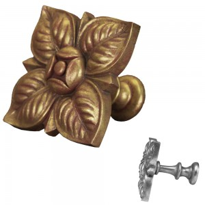 Gilded Gold Square Petals Top Treatment/Tieback~Each
