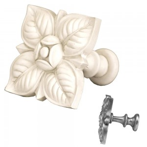 Aged White Square Petals Top Treatment/Tieback~Each