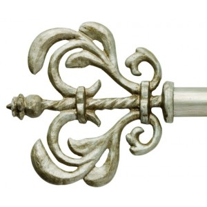 "Patience Curtain Rod Finial for 1"" Metal Drapery Rods~Pair"