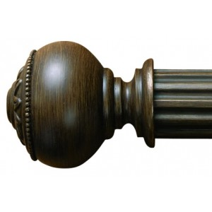 "Bordeaux Curtain Rod Finial for 2 1/4"" Wood Drapery Rods~Pair"