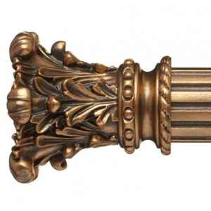 "Lyon Curtain Rod Finial for 2 1/4"" Wood Drapery Rods~Pair"