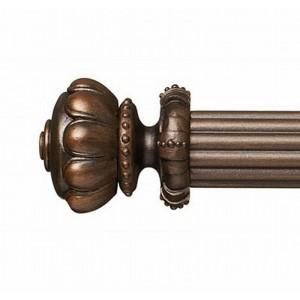 "Astor Jewel Finial for 1 3/8"" Curtain Rod ~ Pair"