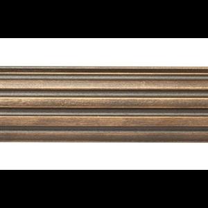 "8' Fluted Wood Curtain Rod Pole~1 3/8"" Rod Diameter"