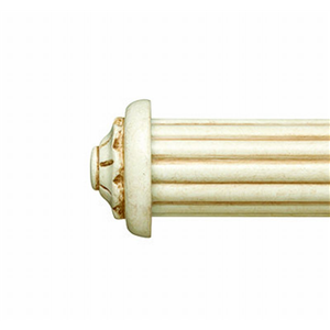 """Small Carved End Cap for 1 3/8"""" Curtain Rod~Pair"""