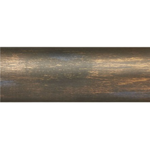 "12' Smooth Wood Curtain Rod Pole~1 3/8"" Rod Diameter"