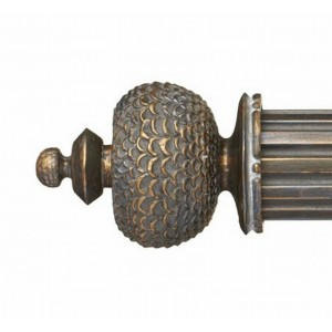 "Nicholas Finial for 2"" Curtain Rod~Pair"