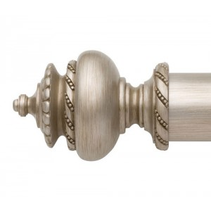 "Adelaide Curtain Rod Finial for 2 1/4"" Wood Drapery Rods~Pair"