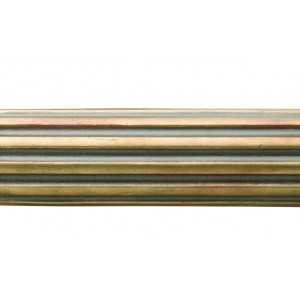 "4' Fluted Wood Curtain Drapery Rod~2 1/4"" Rod Diameter"