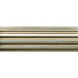 "6' Fluted Wood Curtain Drapery Rod~2 1/4"" Rod Diameter"