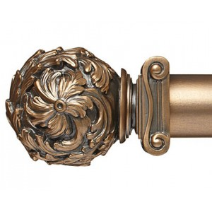 "Greek Curtain Rod Finial for 2 1/4"" Wood Drapery Rods~Pair"