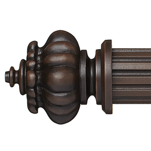 "Louise Curtain Rod Finial for 2 1/4"" Wood Drapery Rods~Pair"