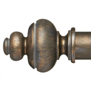 "Rydal Curtain Rod Finial for 2 1/4"" Wood Drapery Rods~Pair"