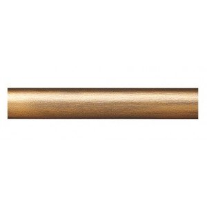 "12' Smooth Metal Curtain Rod~1"" Rod Diameter"