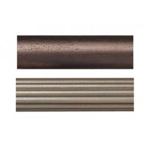 "6' Smooth Wood Curtain Rod ~1 3/8"" Rod Diameter"