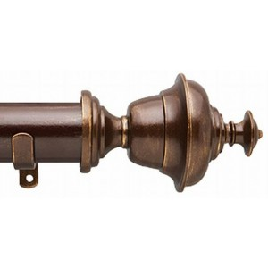 "The Finial Company Brian 2"" Curtain Rod Set"