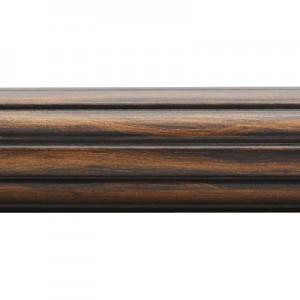 "6' Fluted Wood Drapery Pole~2"" Diameter"