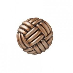 "Basket Weave Drapery Tieback Rosette~4 1/8"" Diameter~Each"