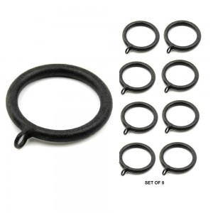 """Smooth Ring for 1 1/4"""" Curtain Rod~8 Pack"""