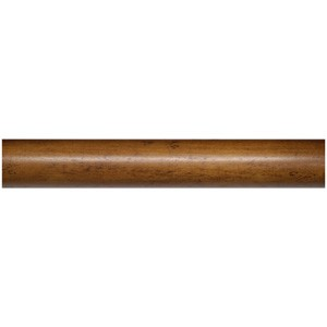 "Robert Allen Classic Distressed Oak 1.75"" Curtain Rod ~ Each"