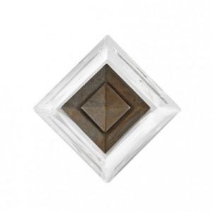 "Crystal Drapery Tieback Rosette~3"" Square-4 1/4"" Diameter~Each"