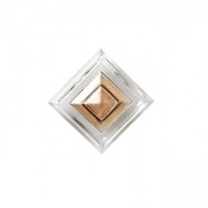 """Crystal Drapery Rosette~3"""" Square-4 1/4"""" Diameter~Each"""