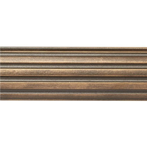 "6' Fluted Wood Curtain Rod Pole~1 3/8"" Rod Diameter"