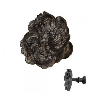 Bronze/Black Scalloped Leaf Top Treatment/Tieback~Each
