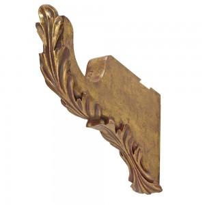 """Scroll Leaf Bracket 6"""" Return for 2"""" Curtain Rod~Pair"""