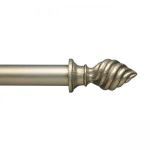 "Swirl Finial for 1 3/4"" Curtain Rod~Each"
