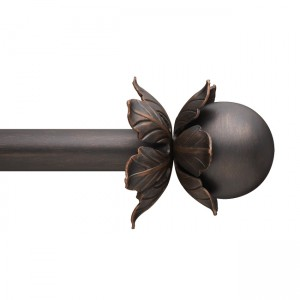 "Bloom Finial for 1 3/4"" Curtain Rod~Each"