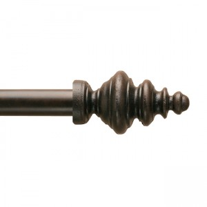 "Gideon Finial for 1 3/4"" Curtain Rod~Each"