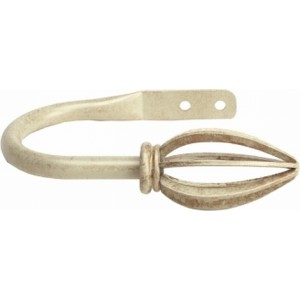 Siena Ivory Gold Drapery Tie Back~Each