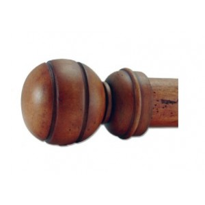 "Ball Wooden Finial for 2"" Curtain Rod~Pair"