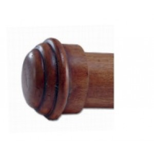 "Wooden End Caps for 2"" Curtain Rods~Pair"